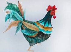 Cock-a-Doodle-Doo, Limted Edition Print, Giclée, Rooster, Cockerel £50.00