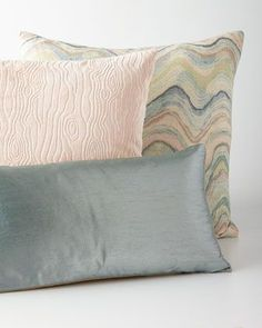 Mist,+Blush,+&+Waves+Pillows+by+Canaan+Company+at+Horchow.