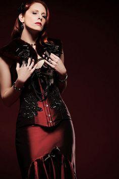 That dark red dress MY WORD. So scandalous.