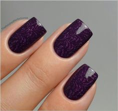 Pretty, purple & lavender nails