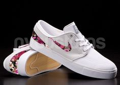 Nike SB Janoski Light Base Grey Floral Bouquet Print Custom Men on Etsy, $150.00