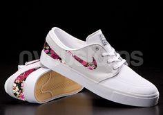 Nike SB Janoski Light Base Grey Floral Bouquet Print Custom Men on Etsy, $150.00
