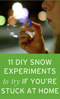 Fun snow experiments to try when it's snowy outside