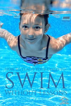 Learn how to teach your child to swim without lessons with these simple tips. Easy and fun for both child and parent that can be done in less than a summer. Swimming Drills, Swimming Pool Games, Toddler Swimming, Swimming Equipment, Swimming Tips, Open Water Swimming, Kid Pool, Swimming Coach, Swimming Workouts
