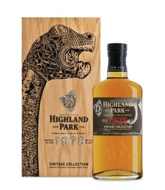Highland Park Whisky with Viking dragon bot head