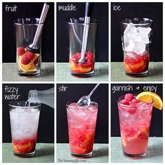 Fruit Bubble Water Drink