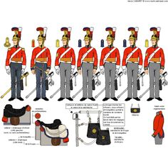 Titre de l'image 1er Escadron du 2ème Régiment de Cavalerie de Gardes