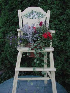 I have an old wooden high chair that I want to do something like this with.
