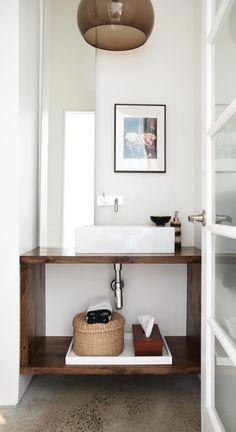 Sleek, Modern Powder Room   Photo Gallery: Powder Rooms   House & Home   Photography Angus Fergusson