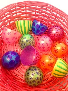 Create a fun toddler matching game with plastic Easter eggs.