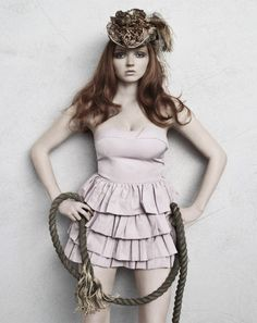 Lily Cole, modern cowgirl? thats my guess but i think this is beautiful