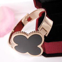 New Fashion OL Black Clover Clover Bracelet Plated Bangle | Buy Wholesale On Line Direct from China