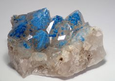 Shattuckite included Quartz - Okandawsi mine, Kaokoveld, Namibia