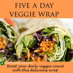 Are you looking for a great way to get your 5 veggies a day in? Try my 5 a day veggie wrap!