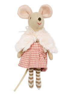 Big Sister Mouse in Winter Clothes - Mouse by Maileg