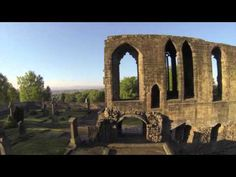 Dunfermline Abbey and Pittencrieff Park Aerial View Video using DJI Phantom