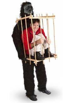 Gorilla & Man in Cage Funny Halloween Costume Adult Looks Like Ape Carrying You | eBay