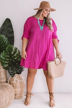 81fd6586e2a0 Sangrias Seaside Shift Dress in Hot Pink • Impressions Online Boutique
