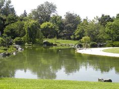 Japanese Gardens at Montreal Botanical Gardens, Montreal, Canada