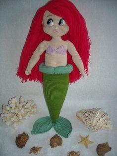 Bambole - Crochet Ariel la sirenetta Amigurumi, Peluche, bam - un prodotto unico di Innakozachuk su DaWanda