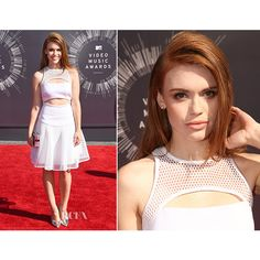 Holland Roden In Milly 2014 MTV Video Music Awards #VMA ❤ liked on Polyvore featuring holland and holland roden