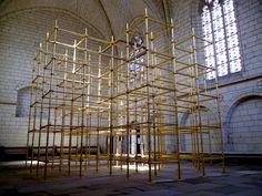 Chapelle du château d'Angers, Passages Croisés en or de Sarkis, 2012