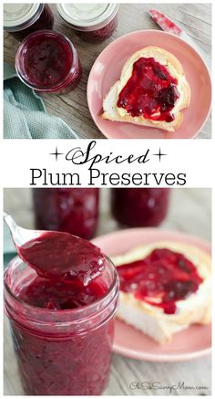 Spiced Plum Jam Recipe. If you're looking for an amazing plum jam or plum preserve recipe, this one is amazing! Spiced Plum Preserves are perfect for canning too!