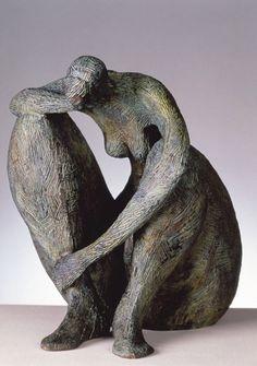 Statue by Marie-Madeleine Gautier Sculptures Céramiques, Art Sculpture, Abstract Sculpture, Ceramic Figures, Ceramic Art, Beaux Arts Paris, Sculpture Projects, Art Walk, Wassily Kandinsky