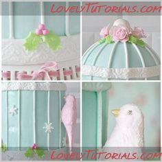 bird cage cake step by step. The site is in Russian but you can click to translate it into English. Cakes are too advanced for me....but I have relatives who could do these.