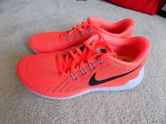 meet 9197a 0da0a NEW 2015 NIKE FREE 5.0 SHOES WOMENS sz 8.5 HOT LAVA ORANGE RED WHITE GREEN  GLOW