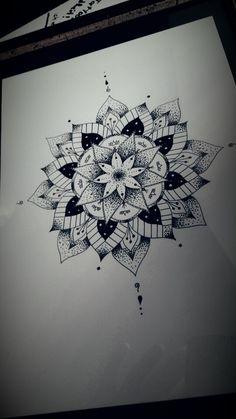 Dotwork Flower Mandala