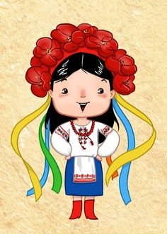 A Ukrainian Girl Art Print