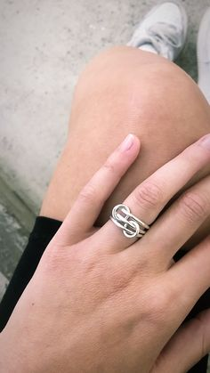 Details about  /925 Sterling Silver Adjustable Ring Thumb Ring Open Stackable Chunky Flower Ring