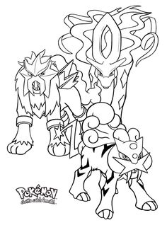 Legendary Pokemon coloring pages for kids, pokemon