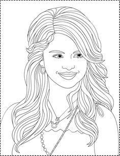 wizards coloring pages selena gomez aka alex russo selena