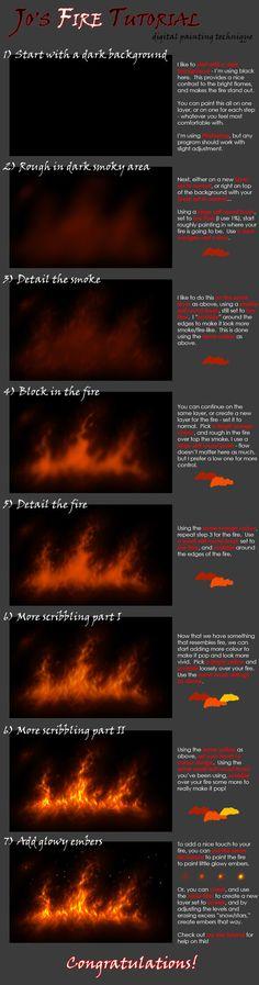 Jocarra's CG Fire Tutorial by jocarra