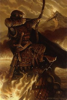 William OConnors Fire and Water: Bard and Smaug!#Repin By:Pinterest++ for iPad#