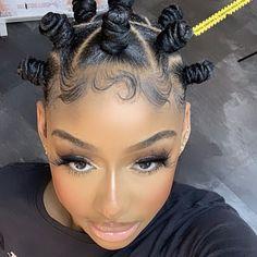 Bantu Knot Hairstyles, Black Girl Braided Hairstyles, Girls Natural Hairstyles, Baddie Hairstyles, Girl Hairstyles, Curly Hair Styles, Natural Hair Styles, Natural Hair Tutorials, Natural Hair Braids