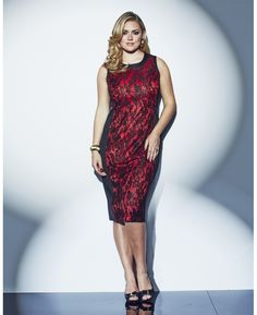 """""""Lovedrobe"""" Lovedrobe Lace Panel Front Dress at Simply Be"""