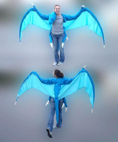 Dragon wings costume super long tail w awesome shiny scale design blue dragon costume concept of sleeve and wing solutioingenieria Choice Image
