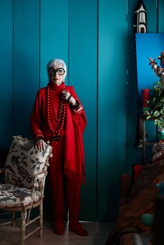 SCENERY - 91 year old fashion icon, Iris Apfel.  Source:...
