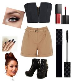 """""""Outfit"""" by annamariaofficial on Polyvore featuring Oasis, Balmain, Smashbox and Gucci"""