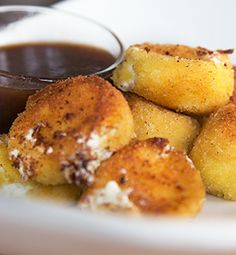 Goat Cheese Fritters with Ken's Lite Strawberry Vinaigrette Dipping Sauce - recipe