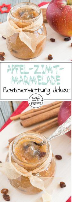 Die winterliche Apfel-Zimt-Marmelade, die nach Bratapfel schmeckt, ist ein leckeres Geschenk aus der Küche. Die Winter-Marmelade ist perfekt, um Zutatenreste zu verwerten.