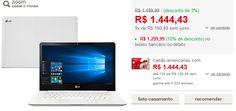 Notebook LG 14U360-L.BJ36P1 Intel Celeron Quad Core 4GB 500GB Tela LED 14 W10 << R$ 129999 >>