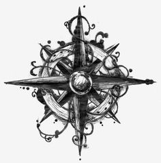 places to go…. or that make me smile / Compass tattoo design.