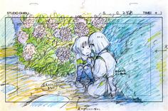 "Spirited Away - ghibli-collector: "" 宮崎 駿 Hayao Miyazaki's Feature Film Layouts Nausicaa - The Wind Rises "" Studio Ghibli Films, Art Studio Ghibli, Hayao Miyazaki, Totoro, Personajes Studio Ghibli, Chihiro Y Haku, Animation Storyboard, Girls Anime, Anime Sketch"