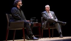 At a Brooklyn Academy of Music event, the two famous authors wield words and imaginary swords. Daniel Handler, Academy Of Music, Neil Gaiman, Love Words, Bibliophile, Love Book, Authors, Writers, Love Story