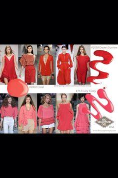 Spring colours Sunrise Spring, Bio Sculpture Gel, Spring Colors, Coral, Colours, Fashion Trends, Trendy Fashion