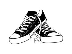 single layer illustration of shoes not editable Baskets Converse, Converse Shoes, Shoes Sneakers, Converse Wallpaper, Shoes Wallpaper, Coque Mac, Sneakers Sketch, Paper Dolls Clothing, Sneaker Art